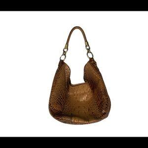 Brahmin Toasted Almond Croc Embossed Shoulder Bag